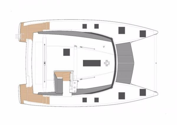 Fountaine Pajot Lucia 40 Manufacturer Provided Image: Fountaine Pajot Lucia 40 Deck Layout Plan