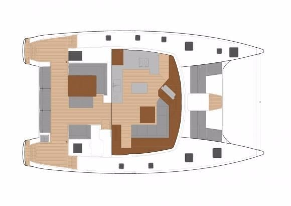 Manufacturer Provided Image: Fountaine Pajot SABA 50 Lower Deck Layout Plan