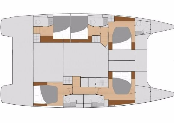 Manufacturer Provided Image: Fountaine Pajot SABA 50 Cabin Layout Plan