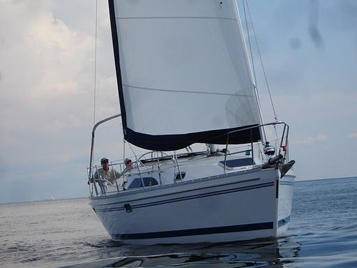 Catalina 355 Stock Boat Sistership Head On