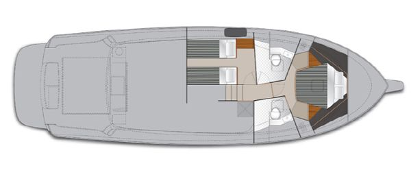 Maritimo M45 Accomodation Plan