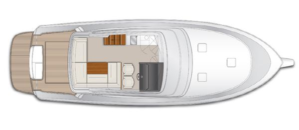 Maritimo M45 Flybridge Layout