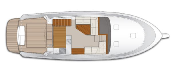 Maritimo M45 Saloon Cockpit Layout