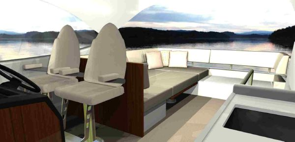 Maritimo M45 Flybridge Sundeck Layout