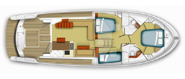 Maritimo M48 Lower Layout