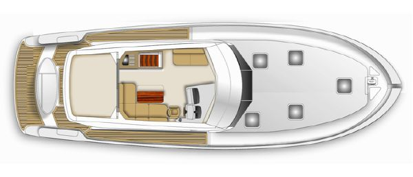 Maritimo M48 Upper Accomodation Layout