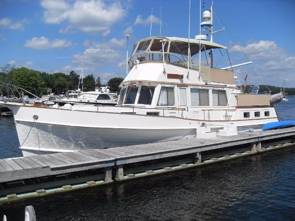 Grand Banks 42 Motoryacht GB42MY MON AMI at dock