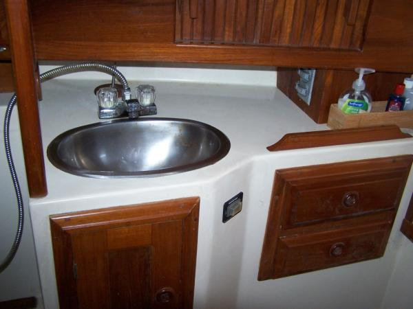 Stainless sink and vanity