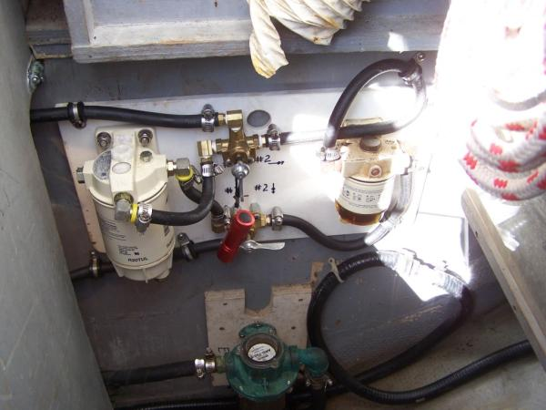 Dual Racor fuel filtering system
