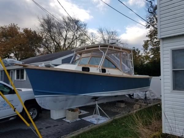 Fortier hardtop cruiser Out Of Water On Stands