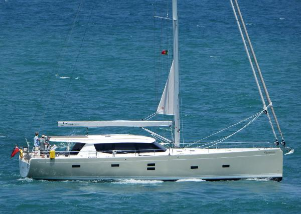 Moody 54 DS Starboard side view