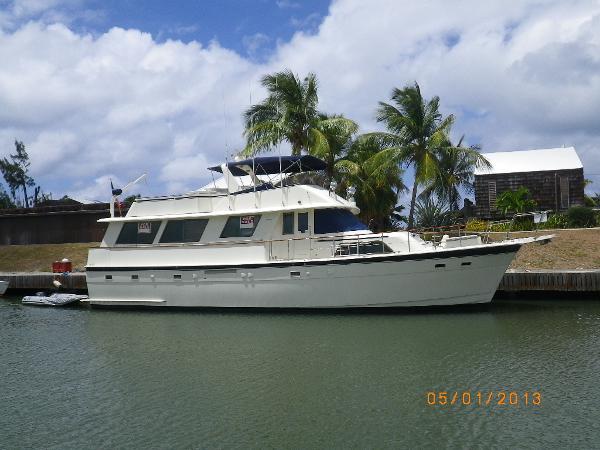 Hatteras Motoryacht starboard side