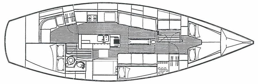 1987 Oyster 406, Croacia - boats com