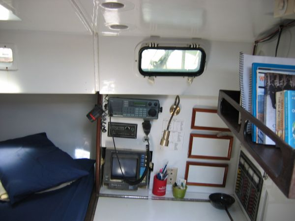 Whitney Carib 41 -  Aft Cabin Chart table and bed