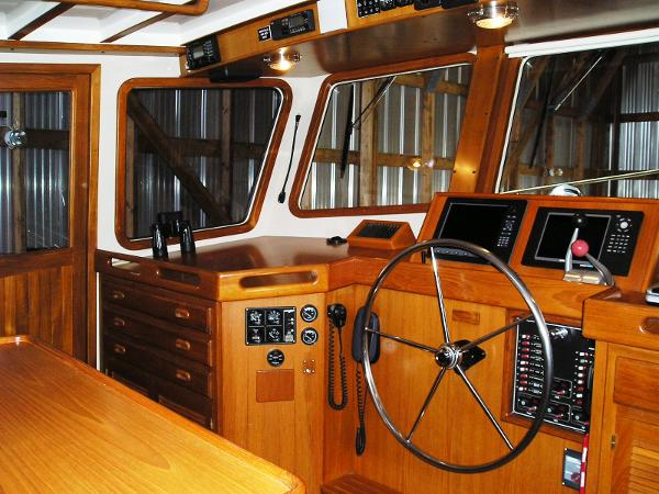 Large pilothouse windows