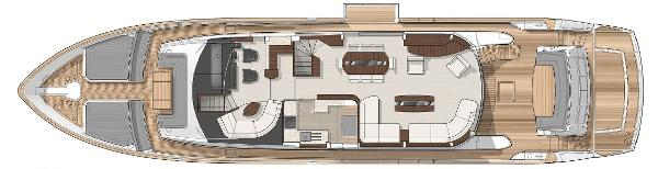 Sunseeker 28 M Yacht Main Deck Layout Plans