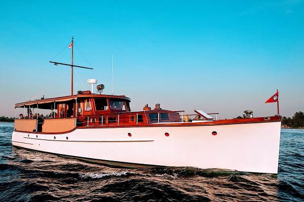 """Custom Classic Flat Top Motor Yacht 56' Custom 1930 Classic Flat Top Motor Yacht """"Cygnus II"""""""