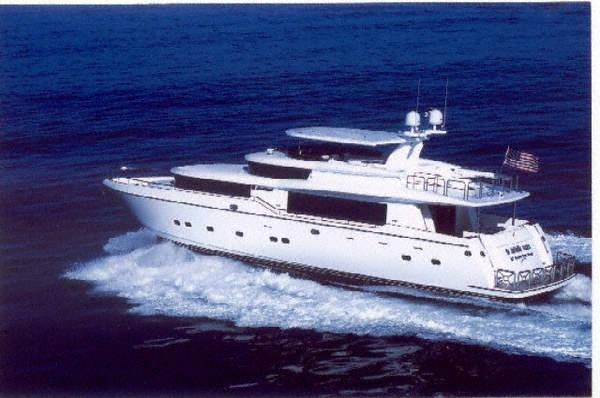 Johnson 87 MOTOR YACHT Underway