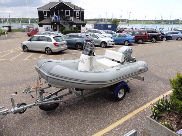 Zodiac 340 Customised Rib. Trailer engine and tender package.