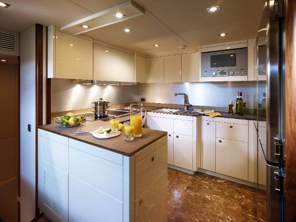 Sunseeker 30M Yacht Galley