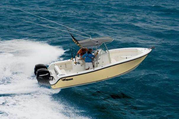 Mako 264 Center Console Manufacturer Provided Image: The 264 Center Console is big enough to brave open waters without sacrificing speed.