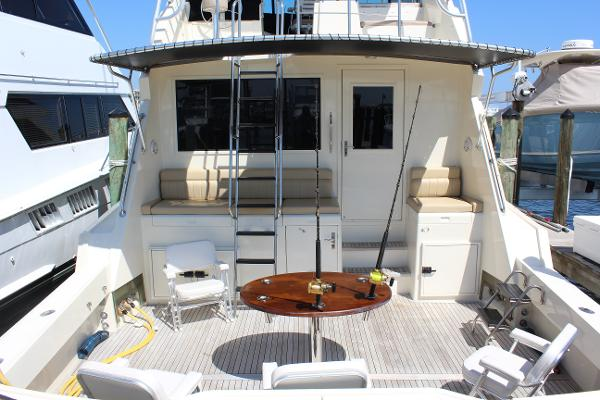 Hatteras 65 Convertible Huge Cockpit