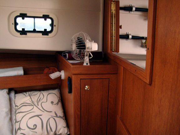 Starboard berth locker