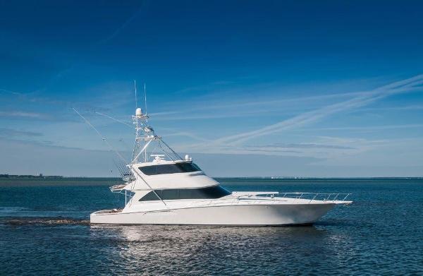 Viking 74 Enclosed Bridge Starboard Profile