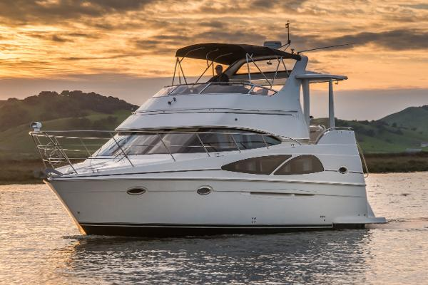 Carver 36 Motor Yacht Vessel underway (this is the actual vessel for sale, not a brochure photo)