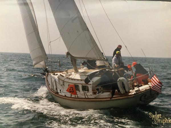 Bristol 40 Under sail - Chesapeake Bay Style
