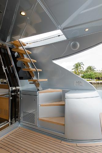 Aft Deck Stairs to Bridge