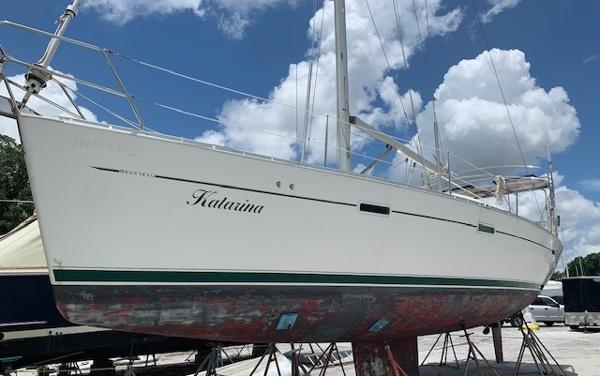 Beneteau 393 Katarina on the hard