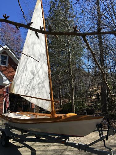 Bolger design Gypsy With Sail Up