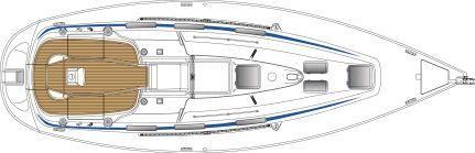 Manufacturer Provided Image: Bavaria 36 Deck Layout