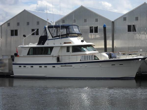 Hatteras 53 Extended Deckhouse Motor Yacht  At Dock!