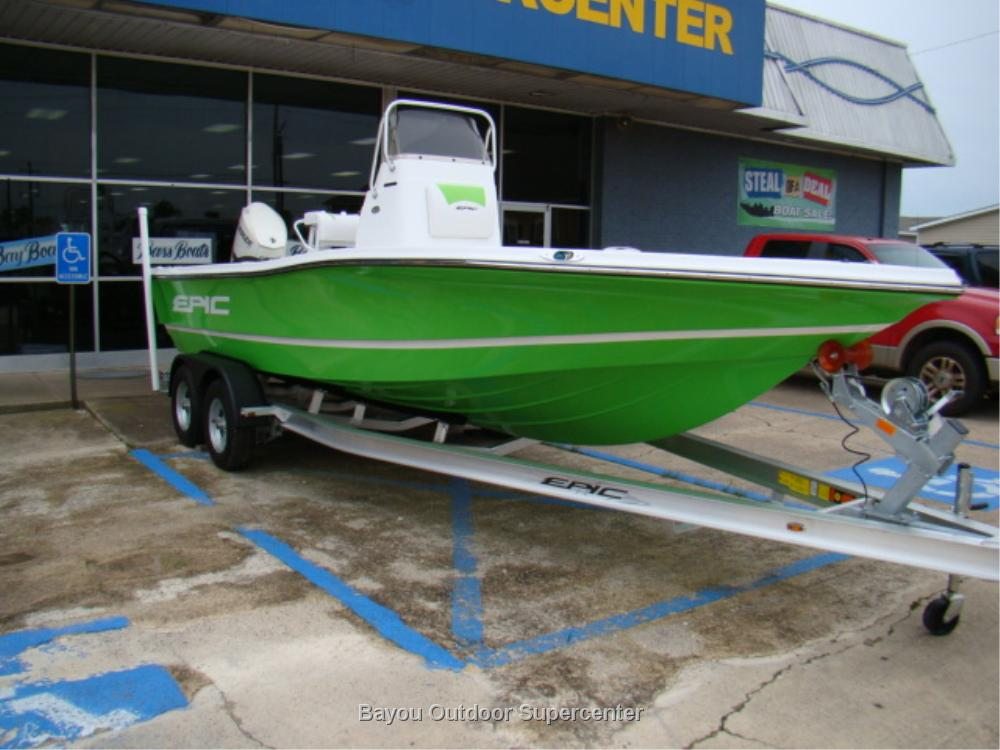 Epic Bay Boats 22 SC (Lime Green/Evinrude Pre-Rig)