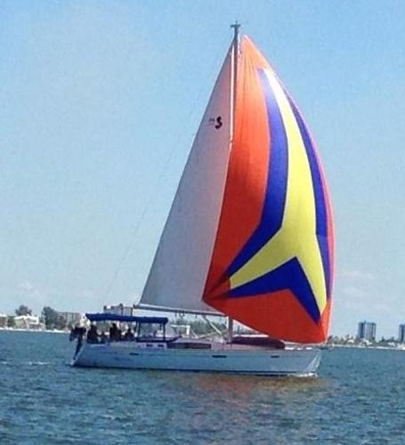 Beneteau America 46 with Spinniker
