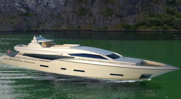 Miss Tor Yacht 110 Side View