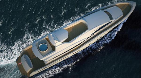 Miss Tor Yacht 110 Aerial View