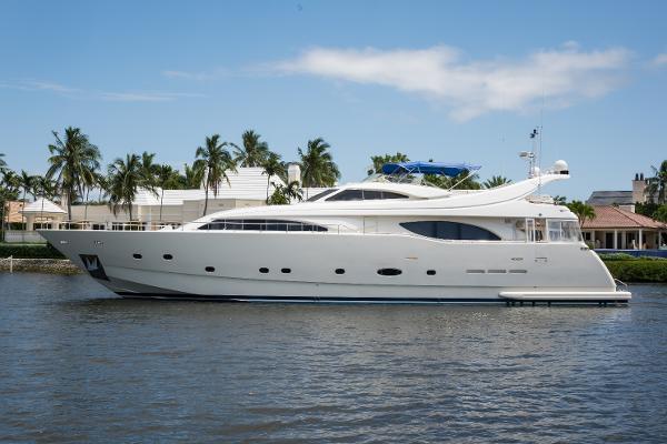 "Ferretti Yachts Custom Line 94 2003 94' Ferretti ""Tomorrow We Ride"" Port Profile"