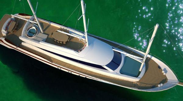 Miss Tor Yacht Schooner 130 Aerial View