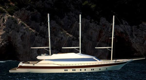 Miss Tor Yacht Schooner 130 Side View