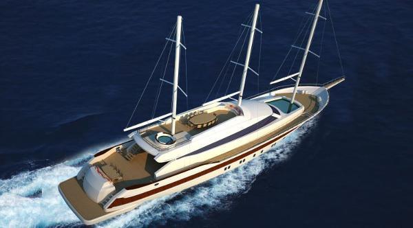 Miss Tor Yacht Schooner 165 Aerial View