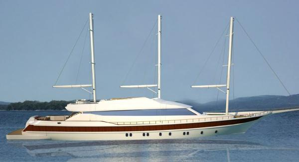 Miss Tor Yacht Schooner 165 Side View