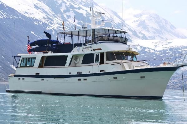 Hatteras Long Range Cruiser AristeiA in Alaska, 2016