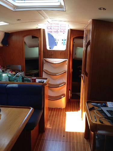 Twin aft cabins