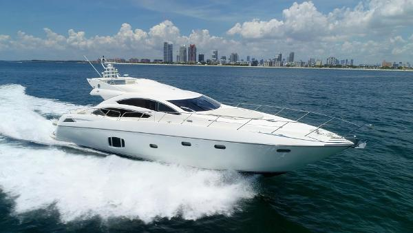 Sunseeker 74 Predator Sport Bridge Running Miami Beach