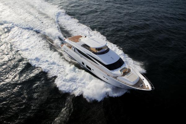 Princess Flybridge 98 Motor Yacht Aerial View