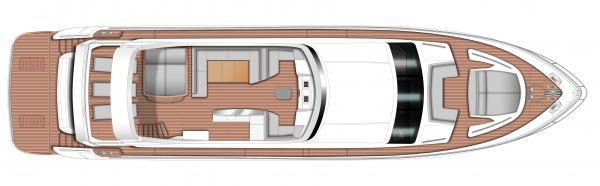 Princess Flybridge 88 Motor Yacht Flybridge Layout Plan