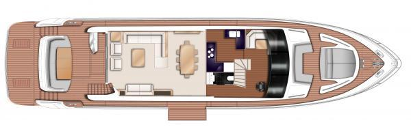 Princess Flybridge 88 Motor Yacht Upper Deck Layout Plan